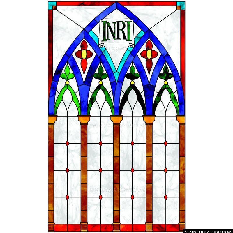 Blue Arch INRI