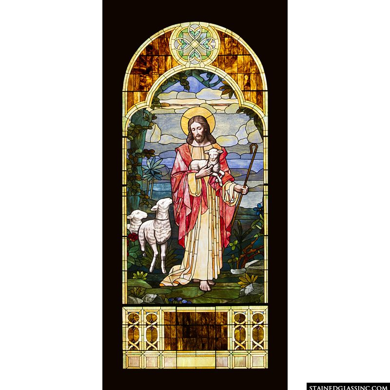 Arched Window Jesus the Good Shepherd