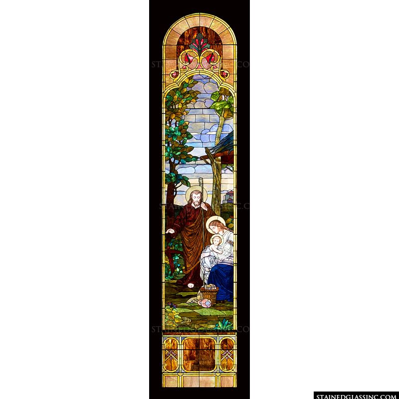 Holy Family Arched Window