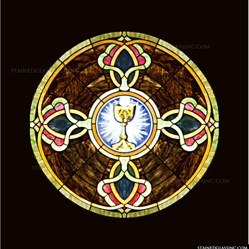 Communion Cup Round Window