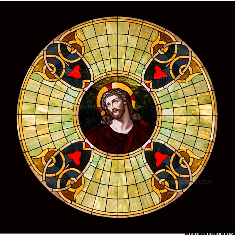 Head of Christ Round Window
