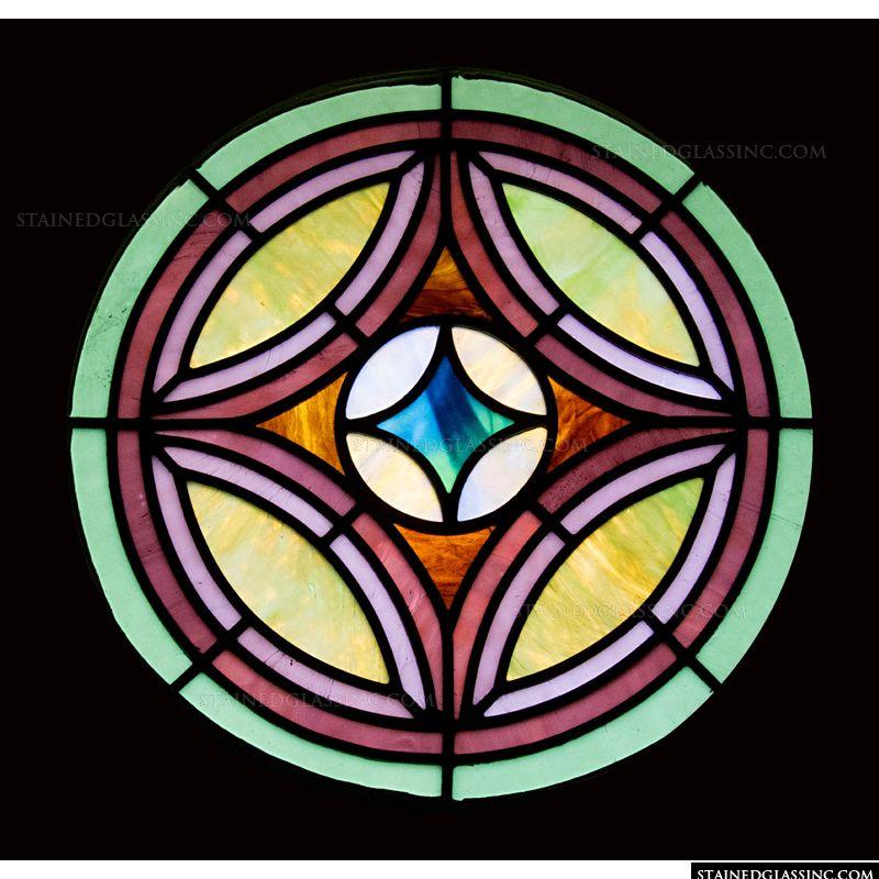 Diamond in Round Window