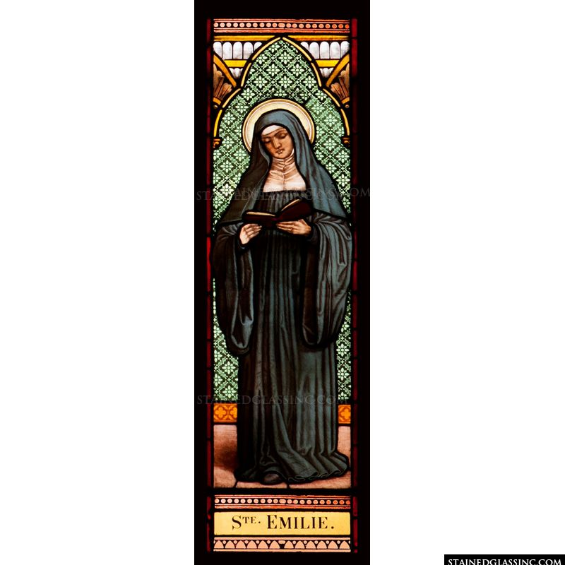 Saint Emily Stained Glass
