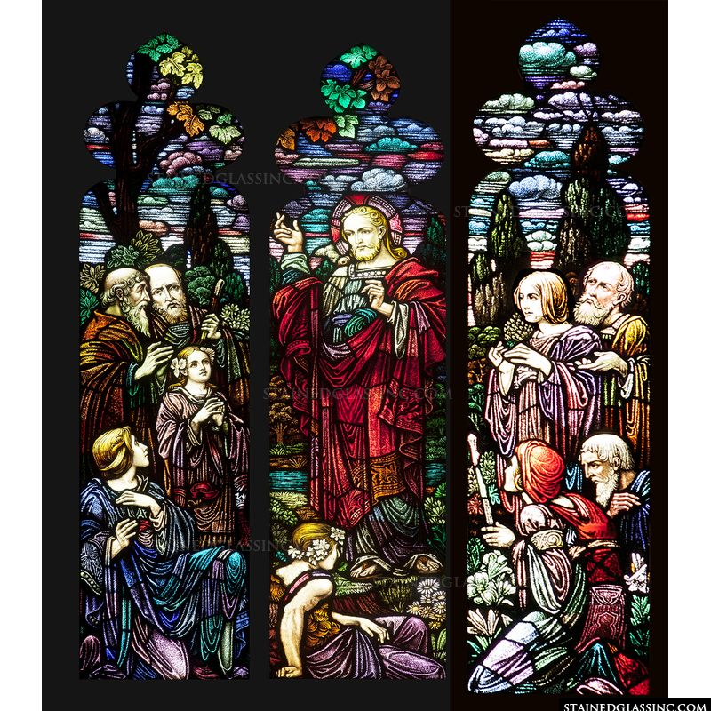 Sermon on the Mount Stained Glass Window