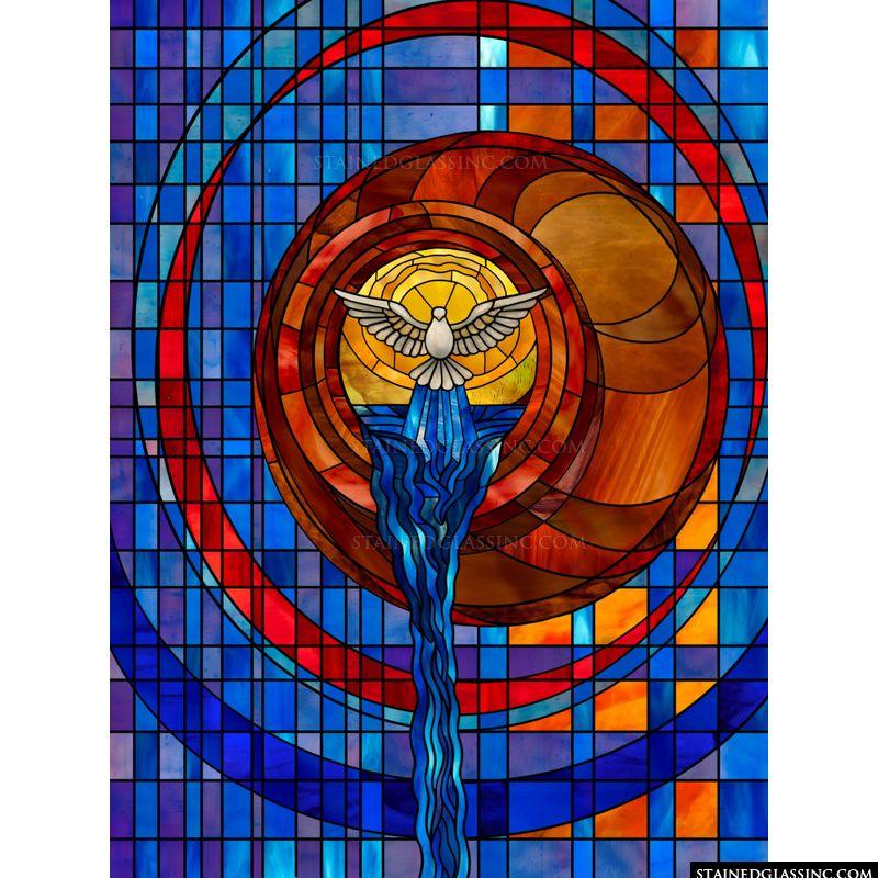 Modern Stylized Stained Glass Window