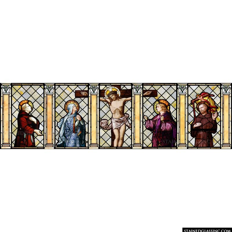 Crucified Christ and Four Saints