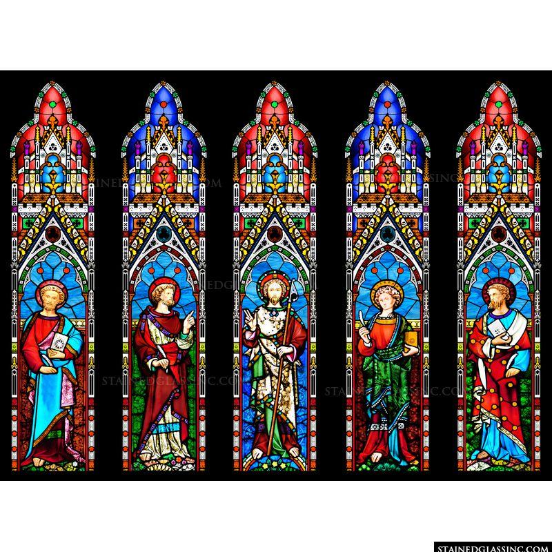 Salvator Mundi and the Four Gospel Writers