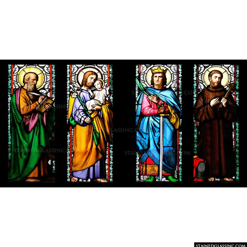 St Lukas, St Josephus, St. Sigismundus and St. Guilelmus