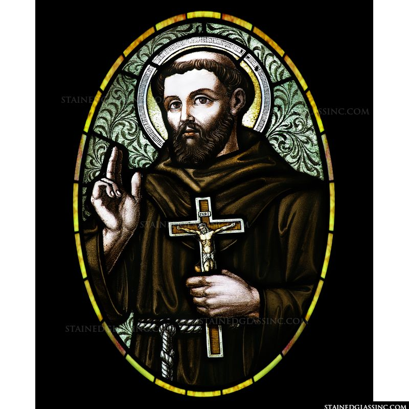 St. Francis of Assisi in Oval Frame