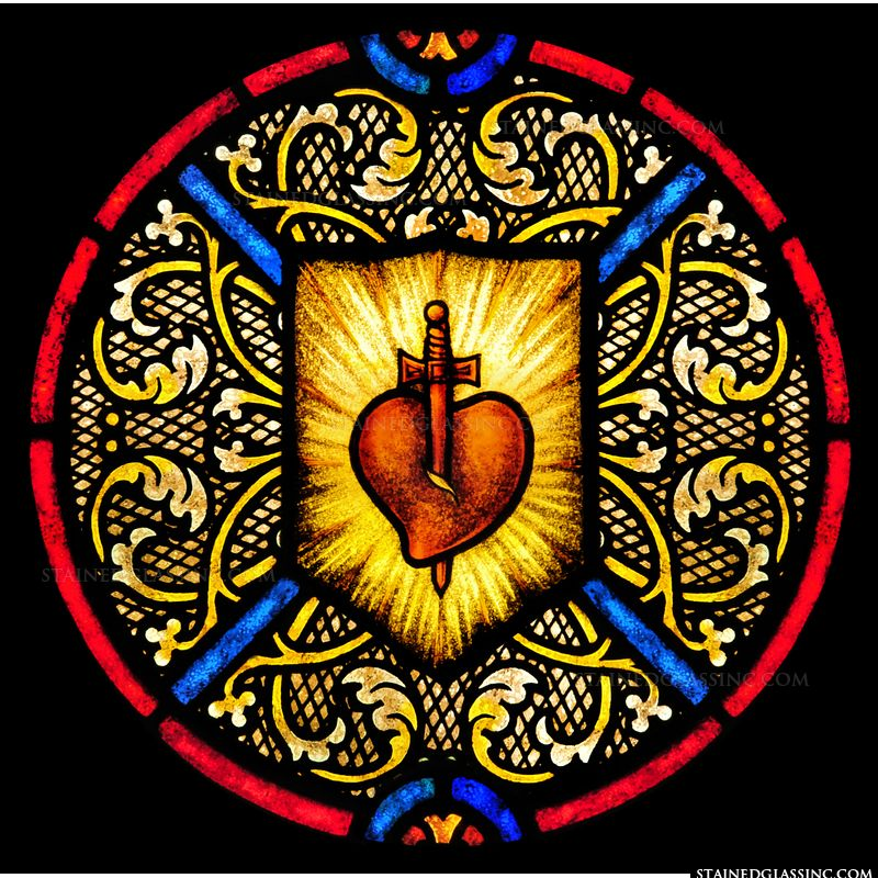 Sacred Heart Pierced by Sword