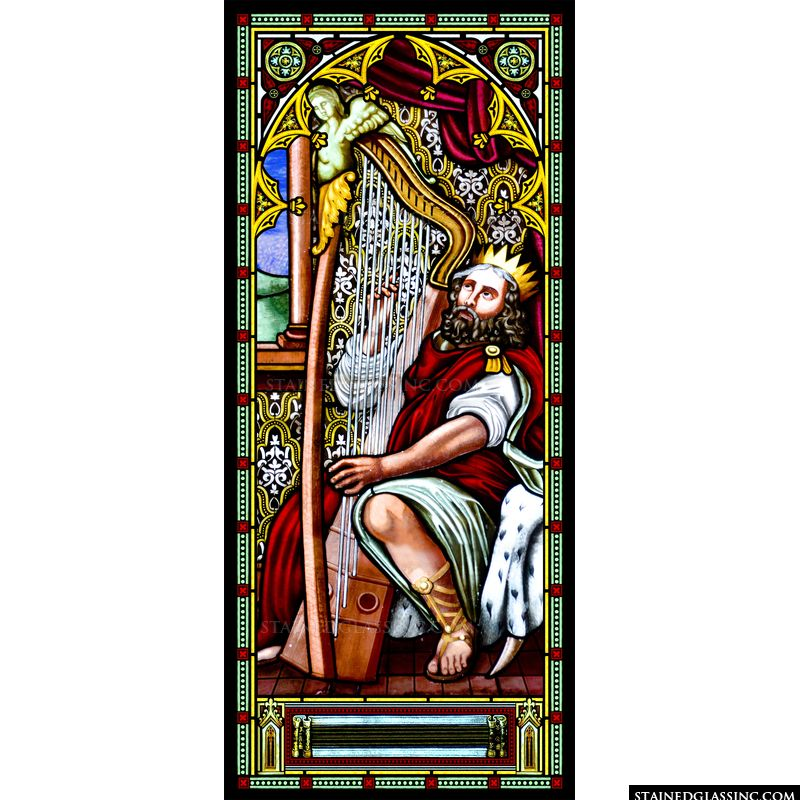 King David With a Harp