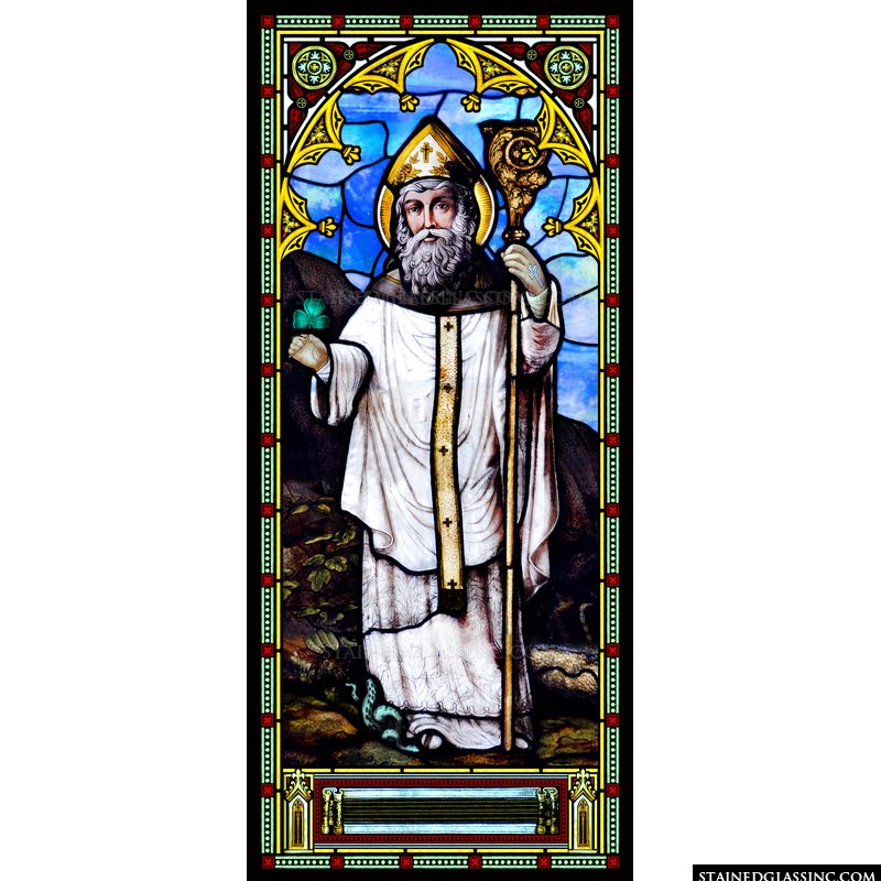 St. Patrick With Shamrock and Snake