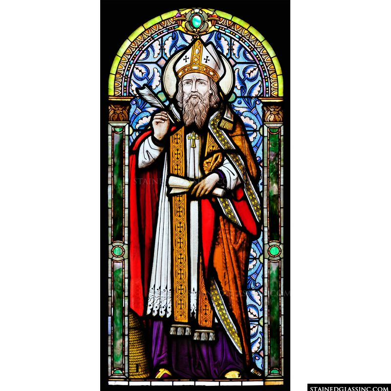 St. Ambrose With Scroll and Quill