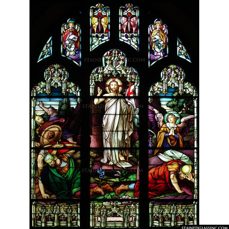 A stained glass depiction of Christ