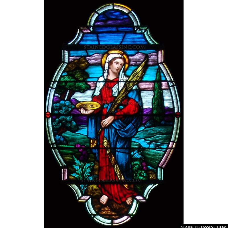 St. Lucy in stained glass.