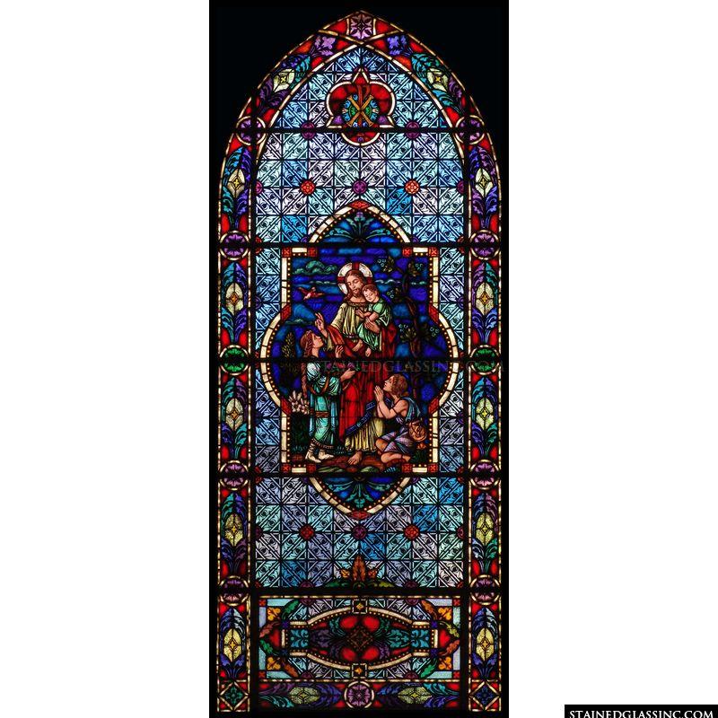 Jesus Christ Blesses the Children Gothic
