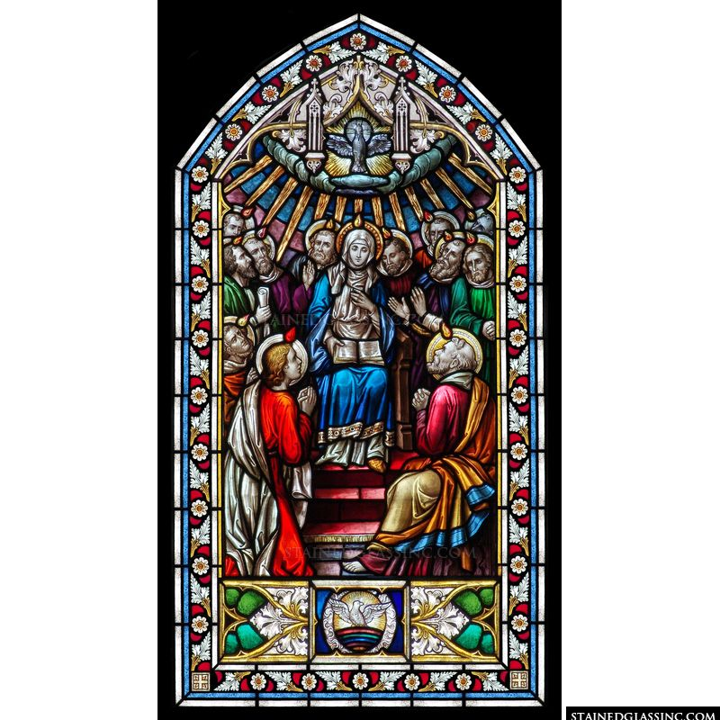 Pentecost with Floral Frame