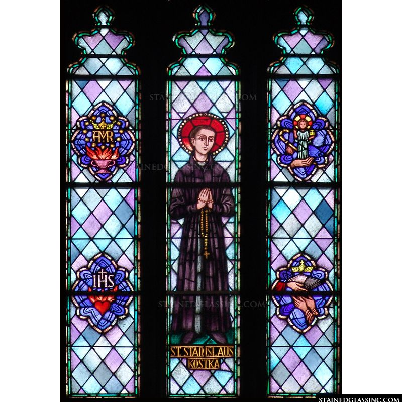St. Stanislaus in stained glass.