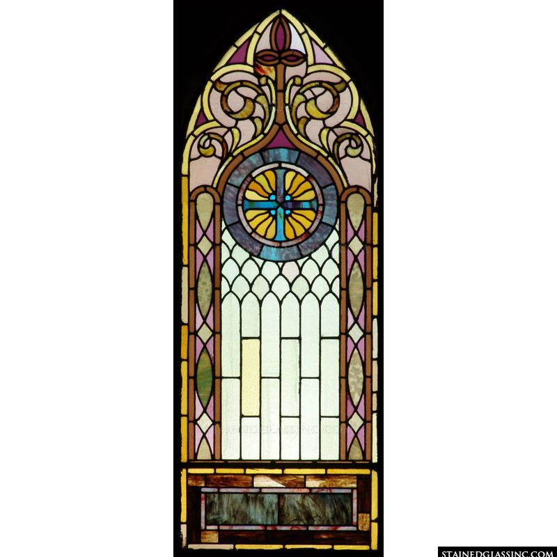 Decorative Cross Stained Glass