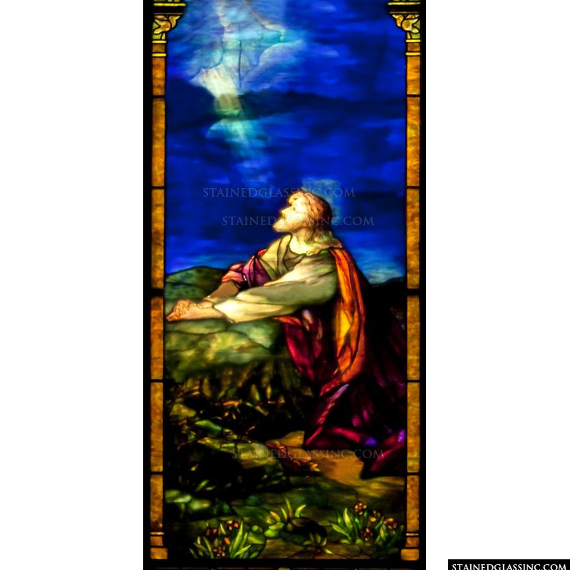 Jesus in Deep Prayer in Gethsemane