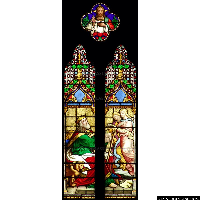 Old Testament Stained Glass Imagery