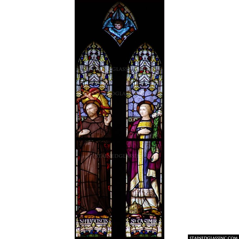 St. Casimir in stained glass.