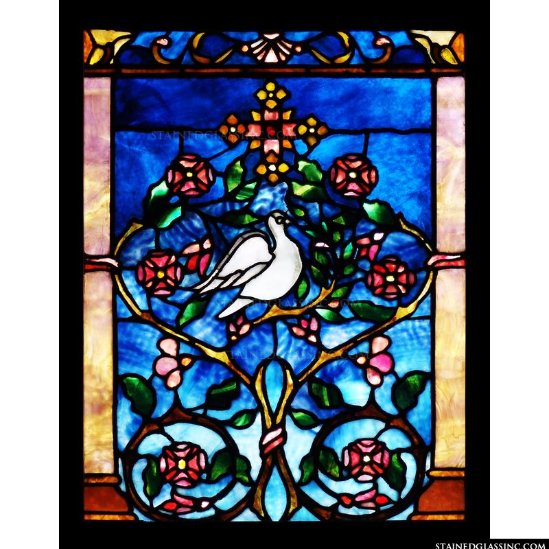Dove and Flowers