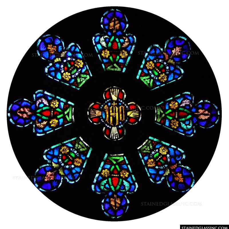 Monogrammed Rose Window