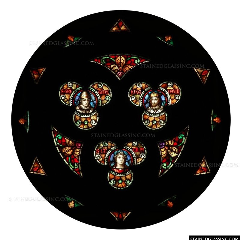 King and Saints Rose Window
