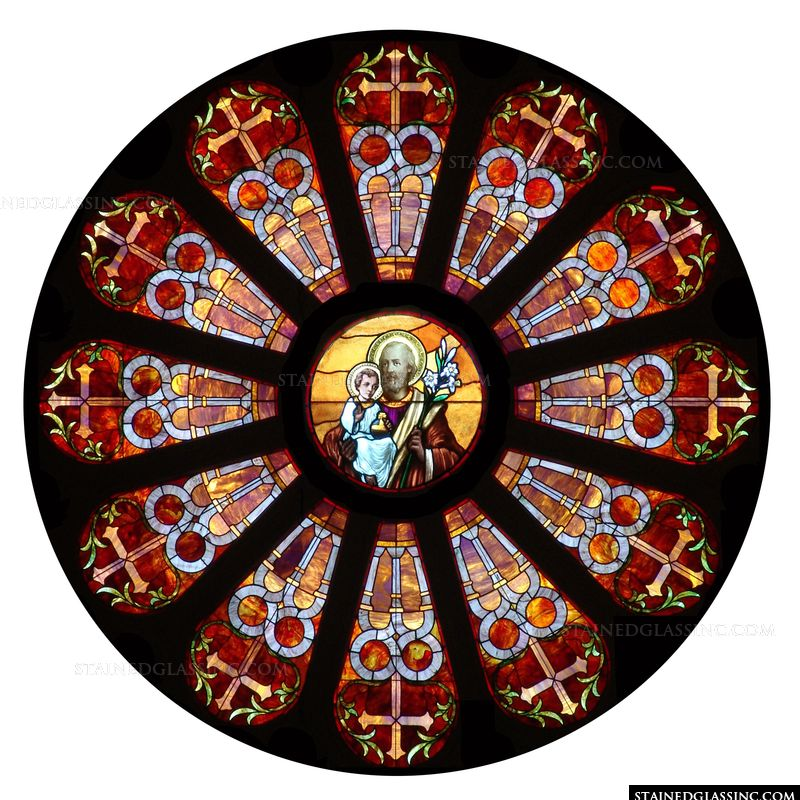 Joseph and Jesus Rose Window