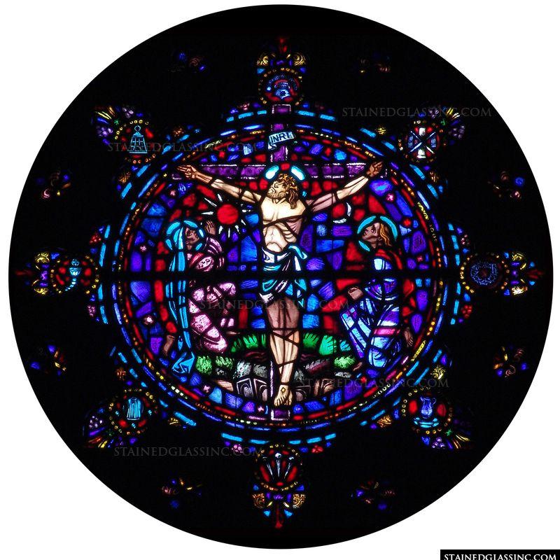 The Crucifixion Rose Window