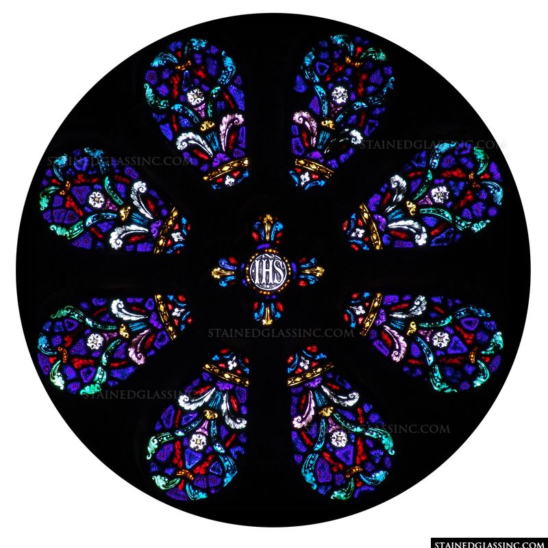 Multicolored Rose Window