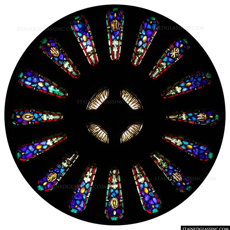 Monogram Rose Window