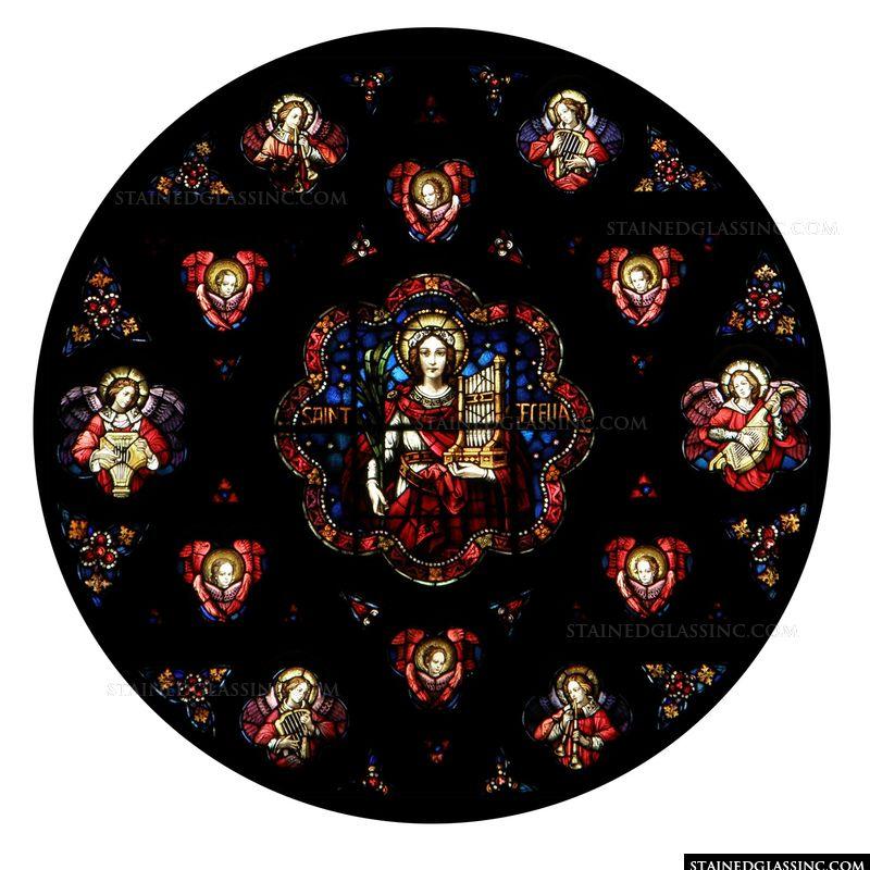 Saint Cecilia and Angels Rose Window