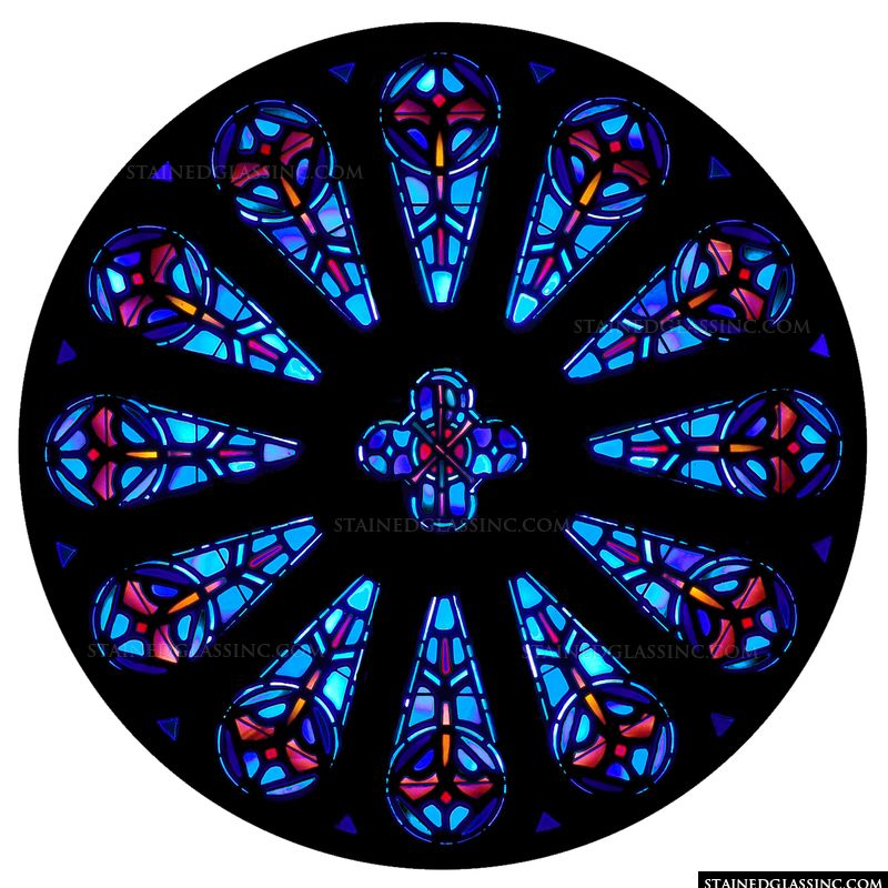 Chi Rho Rose Window