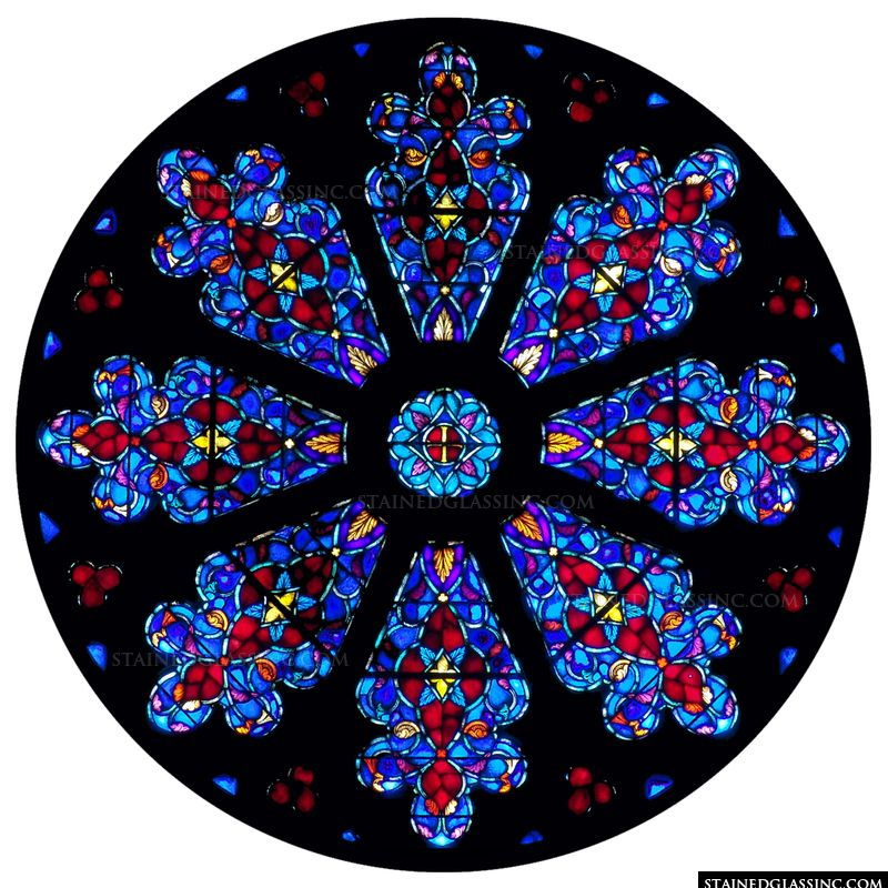 Blue and Red Rose Window