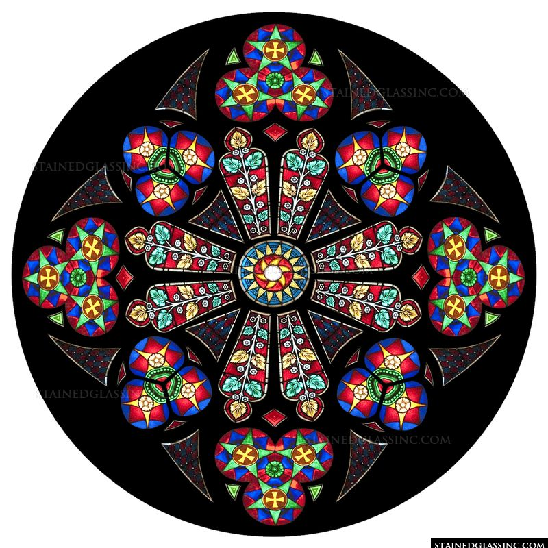 Primary Colors Rose Window
