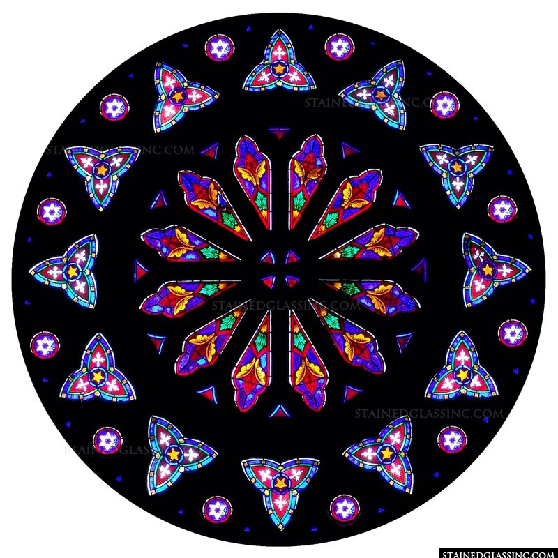 Bright Colored Rose Window