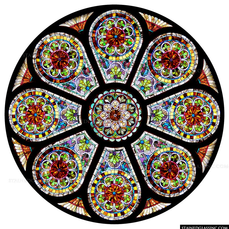 Intricately Detailed Rose Window
