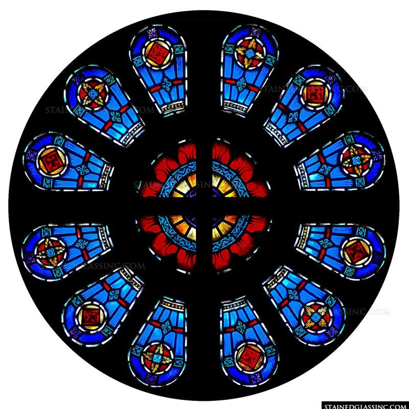 Rose Window Blue and Red