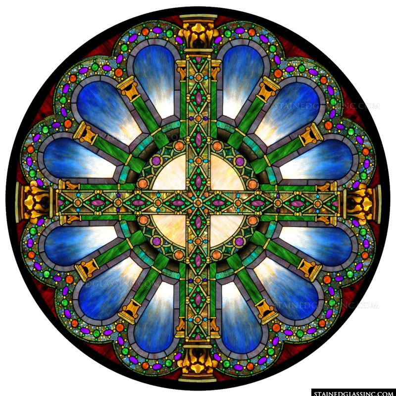 Crossed Columns Rose Window