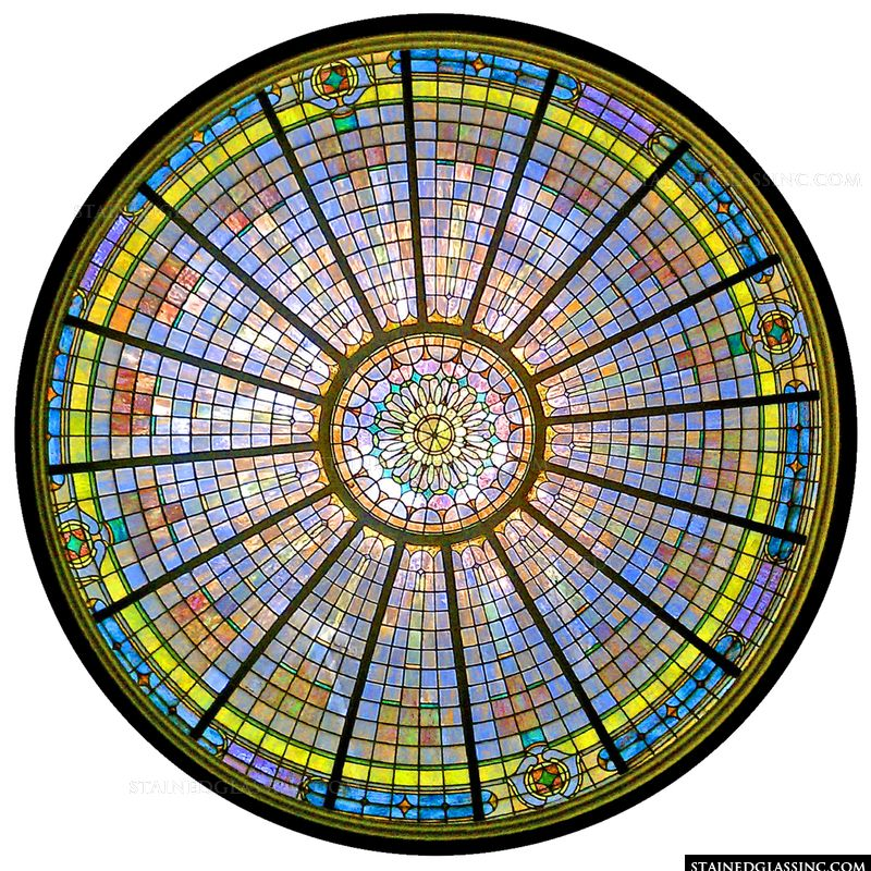 Colorful Dome Window
