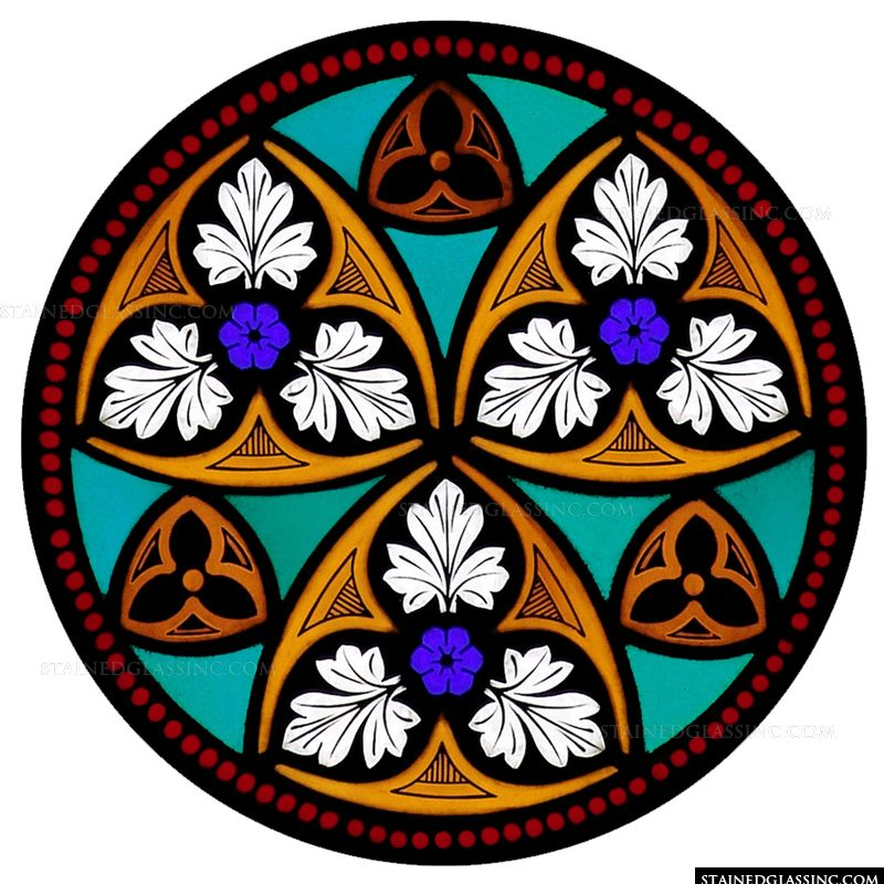 Red Dotted Frame Rose Window