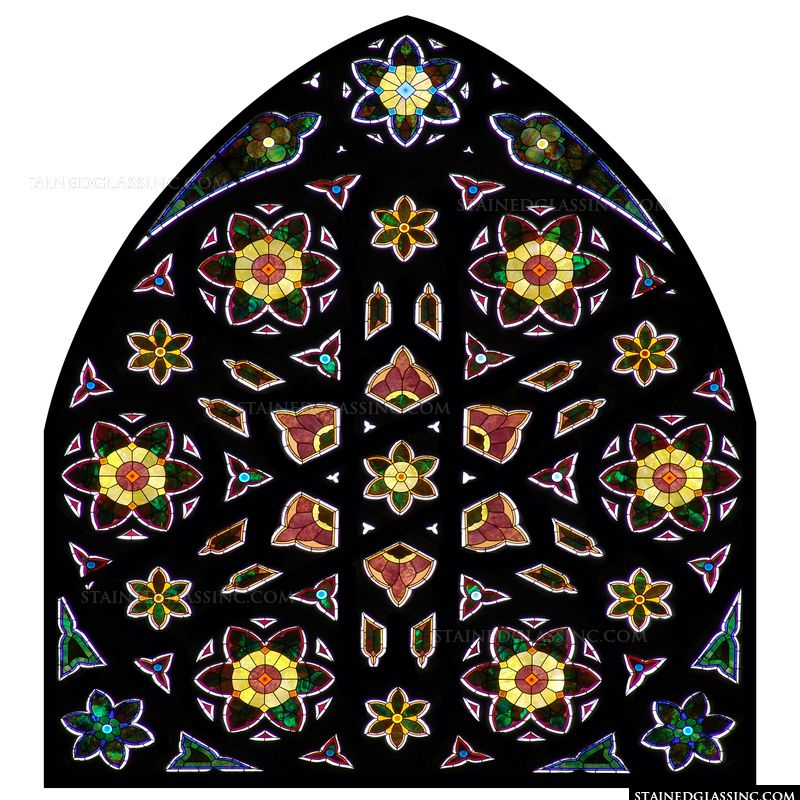 Vibrant Floral Window