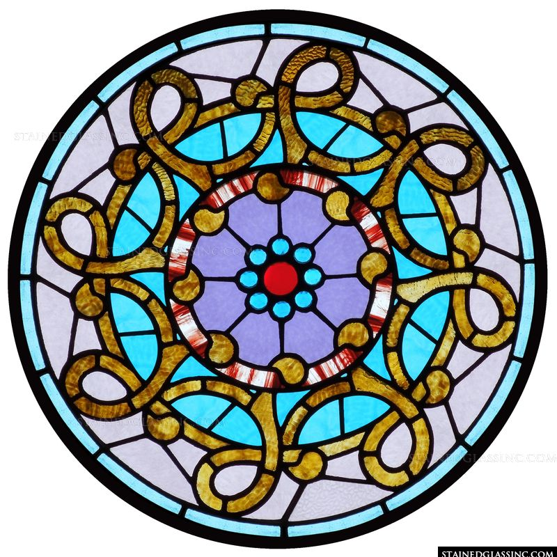 Celtic stained glass.