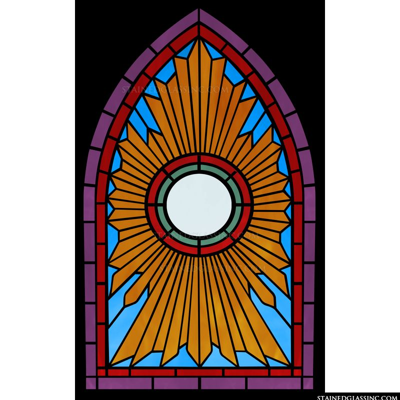 Art Deco Arched Window