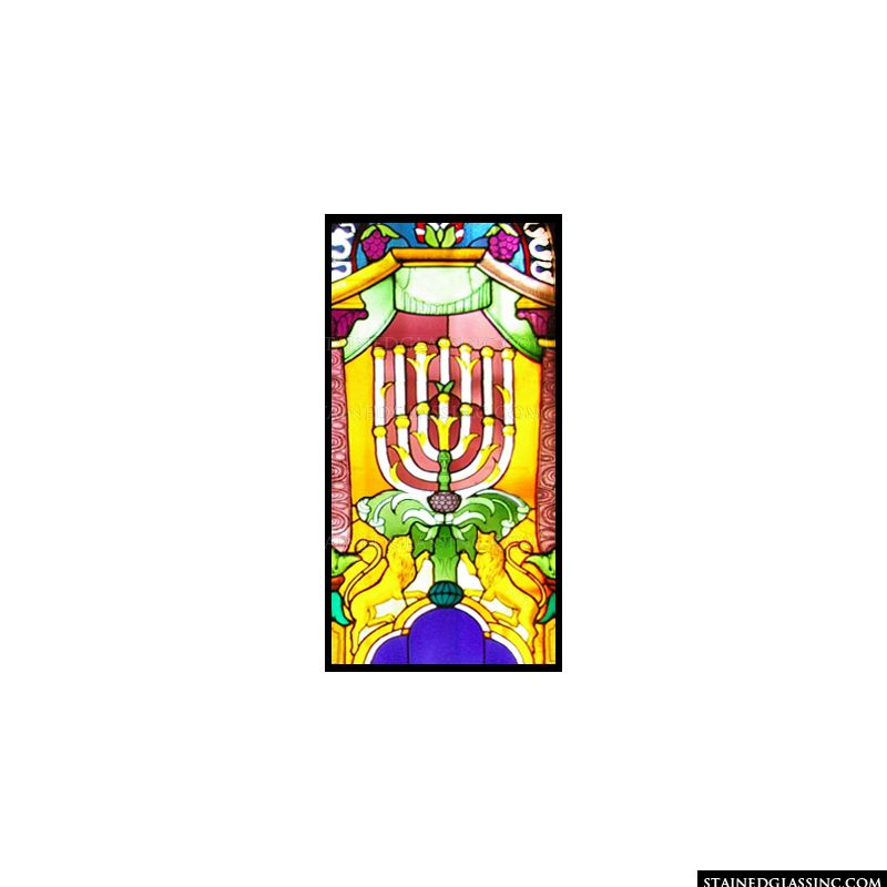 Brightly Colored Menorah