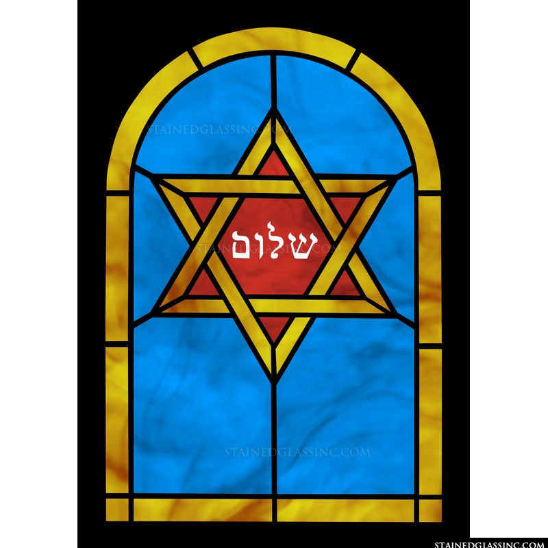 Red and Gold Star of David