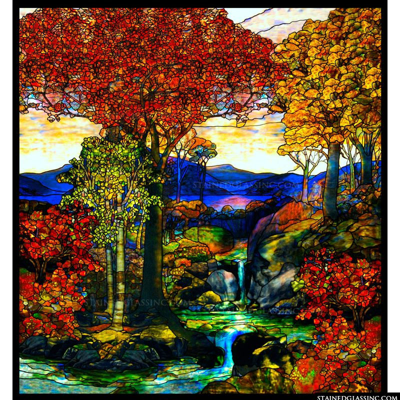 Tiffany Fall Landscape