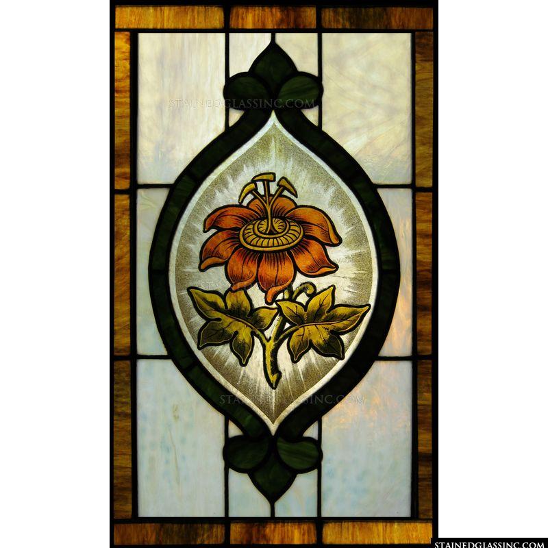 Orange Flower Panel